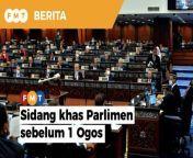 Yang Dipertua Dewan Negara, Rais Yatim akan berbincang dan cuba meyakinkan perdana menteri untuk mengadakan sidang khas Parlimen sebelum 1 Ogos, susulan pertemuannya dengan Yang di-Pertuan Agong semalam.<br/><br/><br/>Read More: https://www.freemalaysiatoday.com/category/nation/2021/06/30/king-stressed-parliament-cannot-reconvene-later-than-expected-says-rais/<br/><br/>Laporan Lanjut: https://www.freemalaysiatoday.com/category/bahasa/tempatan/2021/06/30/kita-cuba-yakinkan-pm-adakan-sidang-khas-parlimen-sebelum-ogos-kata-rais/<br/><br/>Free Malaysia Today is an independent, bi-lingual news portal with a focus on Malaysian current affairs.<br/><br/>Subscribe to our channel - http://bit.ly/2Qo08ry<br/>------------------------------------------------------------------------------------------------------------------------------------------------------<br/>Check us out at https://www.freemalaysiatoday.com<br/>Follow FMT on Facebook: http://bit.ly/2Rn6xEV<br/>Follow FMT on Dailymotion: https://bit.ly/2WGITHM<br/>Follow FMT on Twitter: http://bit.ly/2OCwH8a <br/>Follow FMT on Instagram: https://bit.ly/2OKJbc6<br/>Follow FMT Lifestyle on Instagram: https://bit.ly/39dBDbe<br/>Follow FMT Ohsem on Instagram: https://bit.ly/32KIasG<br/>Follow FMT Telegram - https://bit.ly/2VUfOrv<br/>------------------------------------------------------------------------------------------------------------------------------------------------------<br/>Download FMT News App:<br/>Google Play – http://bit.ly/2YSuV46<br/>App Store – https://apple.co/2HNH7gZ<br/>Huawei AppGallery - https://bit.ly/2D2OpNP<br/><br/>#FMTNews#Parliament #YangdiPertuanAgong