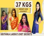 """#krithikaladdu #weightloss #transformation #poovepoochudava #sayswag<br/><br/>Krithika Laddu is one of the famous Tamil Television serial actresses. Kiruthika was debuted in """"Then Nilavu"""" in 2013 Serial which was aired on Sun TV and produced by Thirumurugan. Krithika is getting more famous from the serial Poove Poochudava which is being aired on Zee Tamil.<br/><br/>Here in this video Krithika Laddu Shares about her weight loss transformation after her pregnancy period. She reduced 37 kilos in 6 months only by following liquid diet. She also shares about the body shaming struggles she faced before weight loss journey. <br/><br/>Credits:<br/>Host: Nivetha 