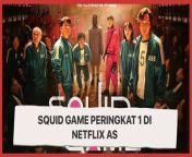 Peringkat 1 Netflix AS, Squid Game Auto Jadi Serial Korea Paling Popular<br/><br/>Squid Game menduduki peringkat pertama di Netflix Amerika Serikat dalam daftar 'Top 10 in The U.S Today'. Sementara, peringkat kedua diraih oleh Sex Education dan peringkat 3 Clickbait. <br/><br/>Sutradara serial drama Squid Game mencari inspirasi ide cerita melalui komik Korea dan Jepang. Selain itu, proses pembuatannya terdapat kendala mulai dari tidak ada investor hingga pemain yang cocok. Yuk, simak video di atas. <br/><br/>Link Terkait:<br/>https://www.suara.com/entertainment/2021/09/22/184326/squid-game-pecahkan-rekor-duduki-peringkat-1-di-netflix-as<br/><br/>#Netflix #AS #SquidGame #Drakor #Serial<br/><br/>Creative/Video Editor : Dinia & Tasya/Azura<br/>===================================<br/>Homepage: https://www.suara.com<br/>Facebook Fan Page: https://www.facebook.com/suaradotcom<br/>Instagram:https://www.instagram.com/suaradotcom/<br/>Twitter:https://twitter.com/suaradotcom<br/>