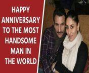 Actor Kareena Kapoor Khan and Saif Ali Khan are celebrating their 9th wedding anniversary and the former took to social media to share an adorable picture of the duo.<br/><br/>#kareenakapoor #saifalikhan #saifkareenalovestory<br/><br/>